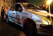 مرگ دلخراش راننده پژو 206 زیر خودروی واژگون شده + تصاویر