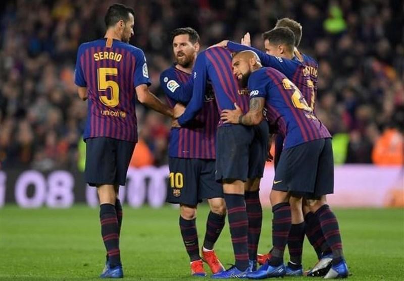 فوتبال جهان| برتری قاطعانه بارسلونا در دربی کاتالونیا با ضربات آزاد استثنایی مسی