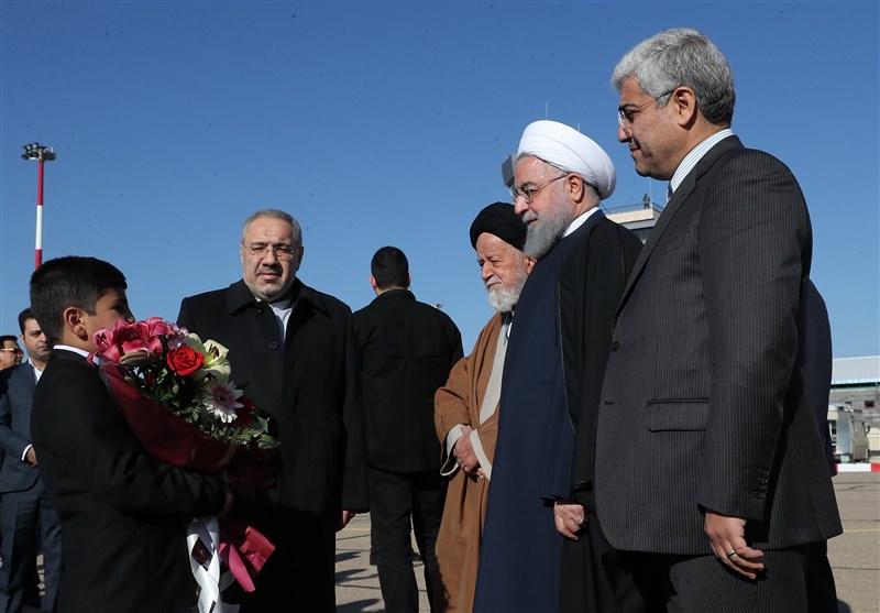 رئیس جمهور در فرودگاه شاهرود: عملیات اجرایی 70 طرح و پروژه جدید در استان سمنان آغاز میشود