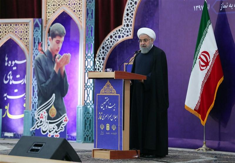 رئیس جمهور در اجلاس نماز: امروز توطئه و فشار اقتصادی آمریکا و صهیونیستها علیه ملت ایران است