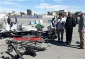 لاشه خودروی عامل انتحاری حمله تروریستی چابهار + عکس