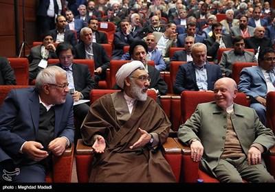 محمدنبی حبیبی، حجت الاسلام پورمحمدی و بادامچیان در دوازدهمین مجمع عمومی حزب مؤتلفه اسلامی