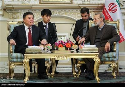 دیدار چن جو نایب رئیس کنگره ملی چین با علی لاریجانی رئیس مجلس شورای اسلامی
