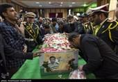 پیکر مطهر شهید نیروی انتظامی در یزد تشییع شد