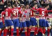 فوتبال جهان| اتلتیکومادرید با یک برد خانگی آسان به بارسلونا رسید