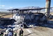 آتش سوزی کارخانه ایزوگام مهار شد