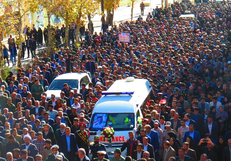 پیکر شهید حادثه تروریستی چابهار در یاسوج تشییع و خاکسپاری شد+فیلم