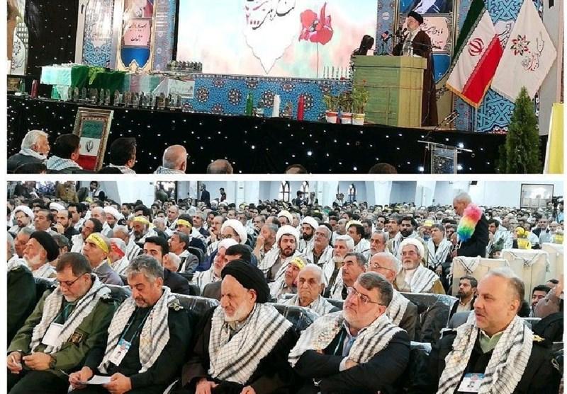 کنگره 2000 شهید خراسانجنوبی| امام خامنهای: دفاع مقدس تمامنشدنی است/ رئیسی: در برابر دشمنان تسلیم نمیشویم/ سرلشکر جعفری: آرزوهای ترامپ علیه ایران مطلقاً قابلتحقق نیست