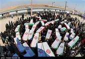 اهواز|مراسم دلدادگی با 72 شهید تازه تفحصشده دفاعمقدس در اهواز+ فیلم