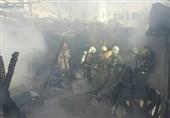 آتشسوزی در باغ رستوران فرحزاد + تصاویر