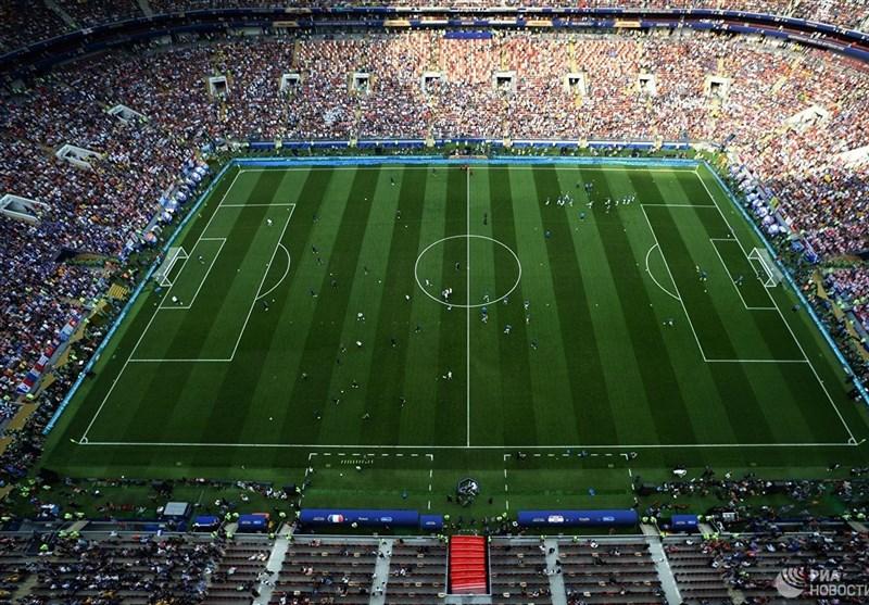 فوتبال جهان| لوژنیکی مسکو بهترین ورزشگاه جهان از منظر دید زمین از روی سکوها