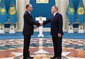 تقدیم استوارنامه سفیر جدید جمهوری اسلامی ایران در آستانه به رئیسجمهور قزاقستان
