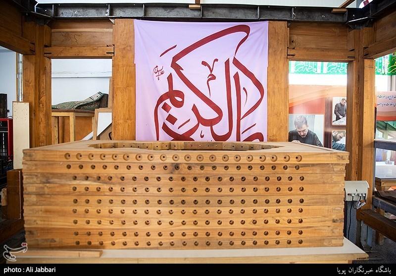 کارگاه ساخت ضریح جدید حرم حضرت عبدالعظیم حسنی (ع)