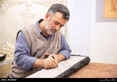 علیرضا اسدی استاد قلم زنی