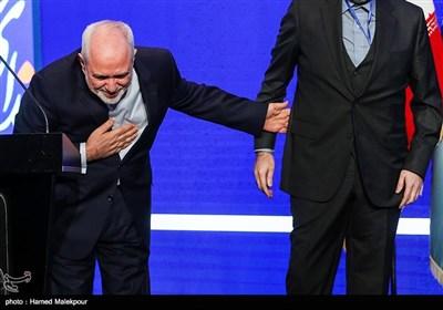 محمدجواد ظریف وزیر امور خارجه در چهارمین کنگره سراسری حزب ندای ایرانیان