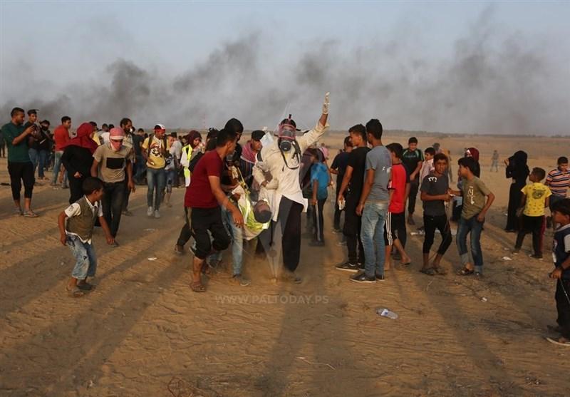 زخمی شدن دهها فلسطینی در سی و هشتمین جمعه راهپیمایی بازگشت