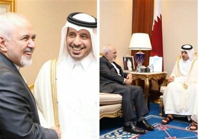 ایرانی وزیر خارجہ کی قطری وزیراعظم سے ملاقات، دوطرفہ تعلقات پر تبادلہ خیال