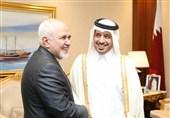 ظریف یلتقی رئیس الوزراء القطری