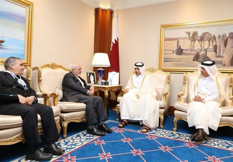 Iran's Zarif, Qatari PM Discuss Bilateral Ties