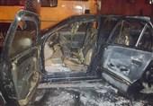 خودروی سمند حین حرکت در خیابان آتش گرفت + تصاویر