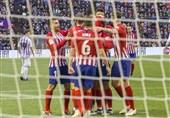 فوتبال جهان|اتلتیکومادرید با برتری دیرهنگام همامتیاز بارسلونا شد