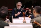 تمرین ارکستر ملی برای شب یادمان علی تجویدی+عکس