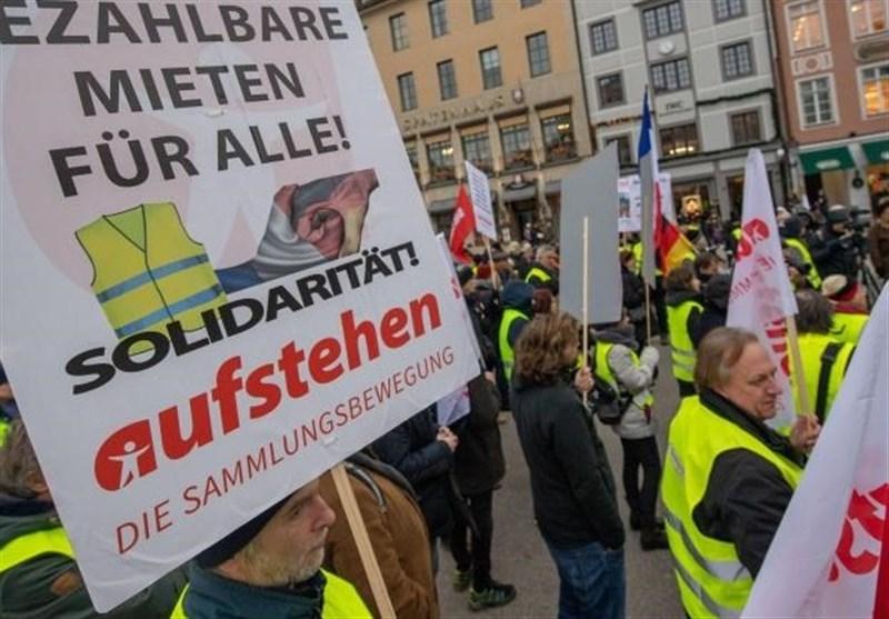 اعتراضات جلیقه زردها به مونیخ آلمان رسید
