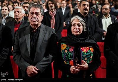 رخشان بنیاعتماد و جهانگیر کوثری در مراسم اختتامیه دوازدهمین جشنواره بینالمللی سینما حقیقت