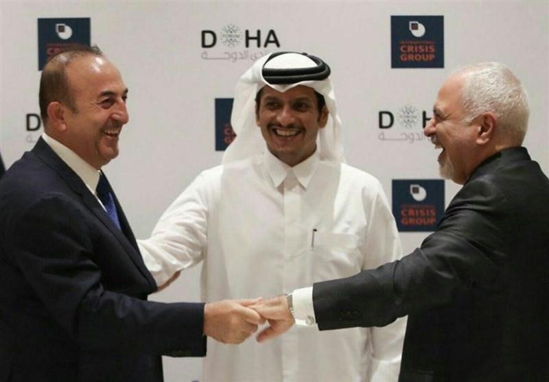 عکس خبر|دیدار صمیمانه وزرای خارجه ایران، ترکیه و قطر