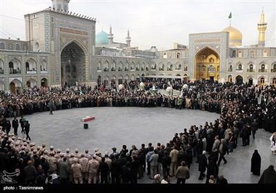 تشییع پیکر سردار منصوری در مشهد