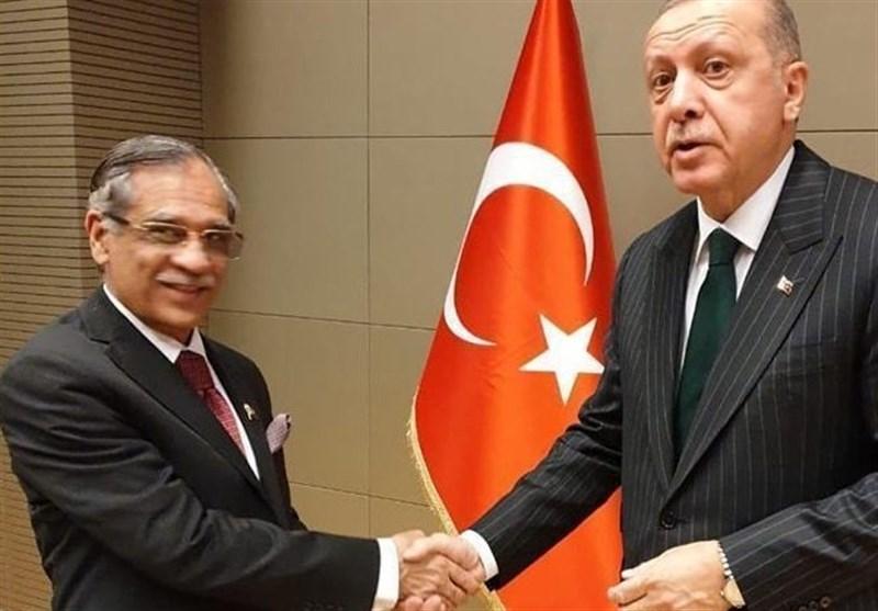 ملاقات رئیس دادگاه عالی پاکستان با اردوغان