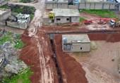 حفر خندق در شهر کوبانی برای مقابله با ارتش ترکیه