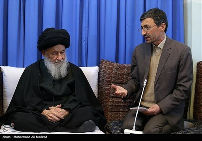 دیدار پرویز فتاح رئیس کمیته امداد با آیت الله علوی گرگانی