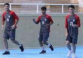 برگزاری تمرین ریکاوری تیم فوتبال امید + تصاویر