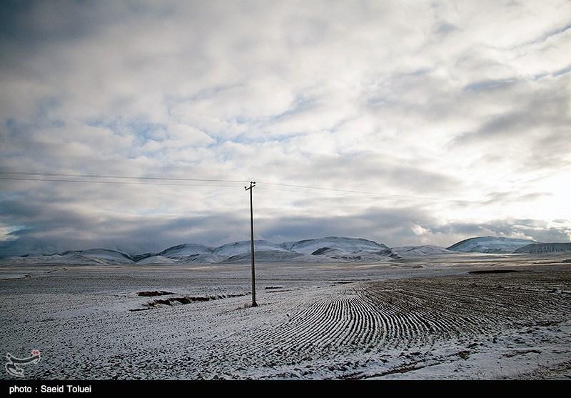 بارش برف در ارتفاعات خراسان شمالی