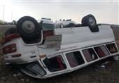 واژگونی مینیبوس در محور قزوین ـ کرج/ 11 نفر مصدوم شدند