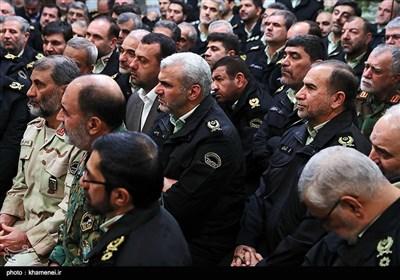 دیدار فرماندهان نیروی انتظامی با مقام معظم رهبری