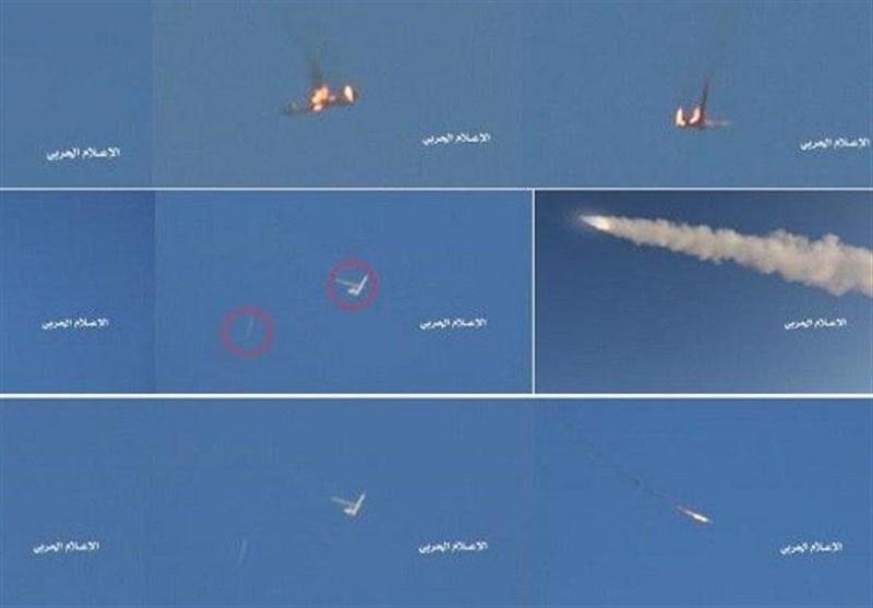 اسقاط طائرة CH-4 تابعة للعدوان فی سماء صعدة