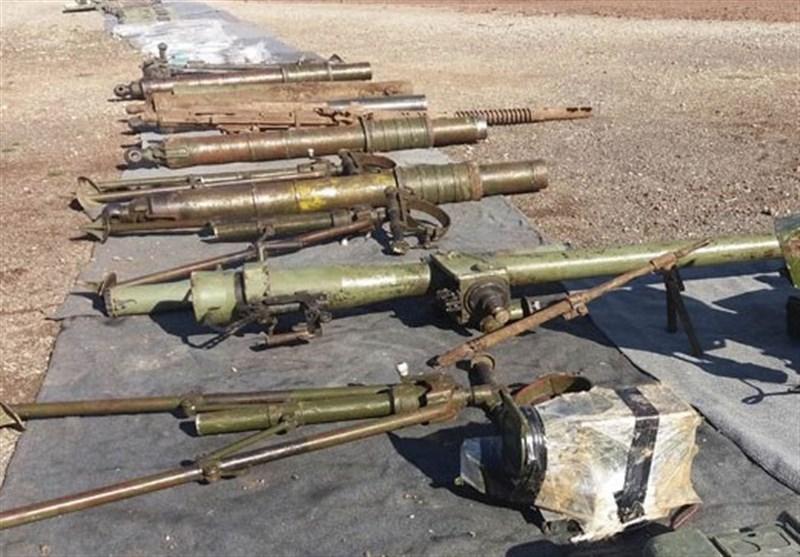 کشف سلاحهای اسرائیلی و آمریکایی در حومه قنیطره سوریه+تصاویر