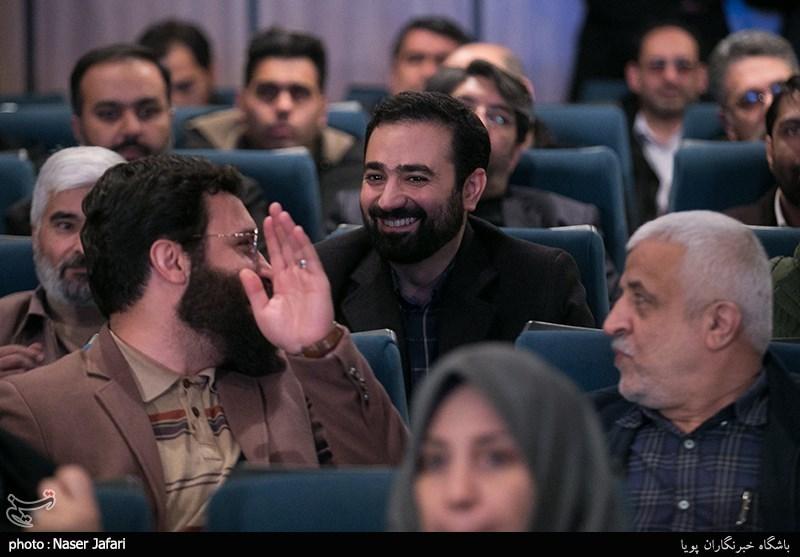 وحید یامین پور در آیین رونمایی از مستند پرتره مرتضی سرهنگی