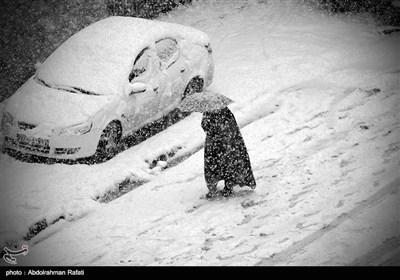 ایران کے شہر ہمدان میں شدید برفباری