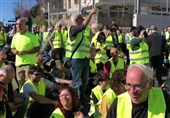 تظاهرات جلیقه زردها در سرزمین اشغالی علیه رژیم صهیونیستی