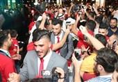 استقبال پرشور از تیم ملی فوتبال سوریه در امارات