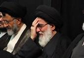 مرحوم آیتالله شاهرودی در مجلس روضه سیدالشهدا(ع) +فیلم