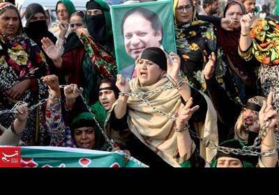 لاہور: نوازشریف کی سزا کے خلاف احتجاج ناکام