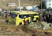نخستین تصاویر از واژگونی اتوبوس در دانشگاه علوم تحقیقات