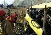 گزارش کامل حادثه واژگونی اتوبوس دانشگاه آزاد/ تعداد جانباختگان به 9 تن رسید + اسامی