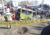 اتوبوس واژگون شده در اختیار دانشگاه آزاد بود
