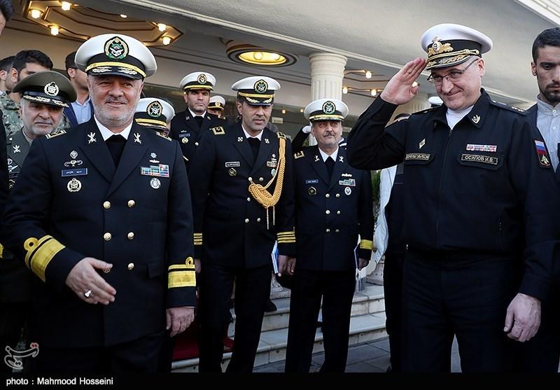 دیدار ژنرال اسیپوف معاون رئیس ستاد کل نیروهای مسلح روسیه با فرمانده نیروی دریایی ارتش