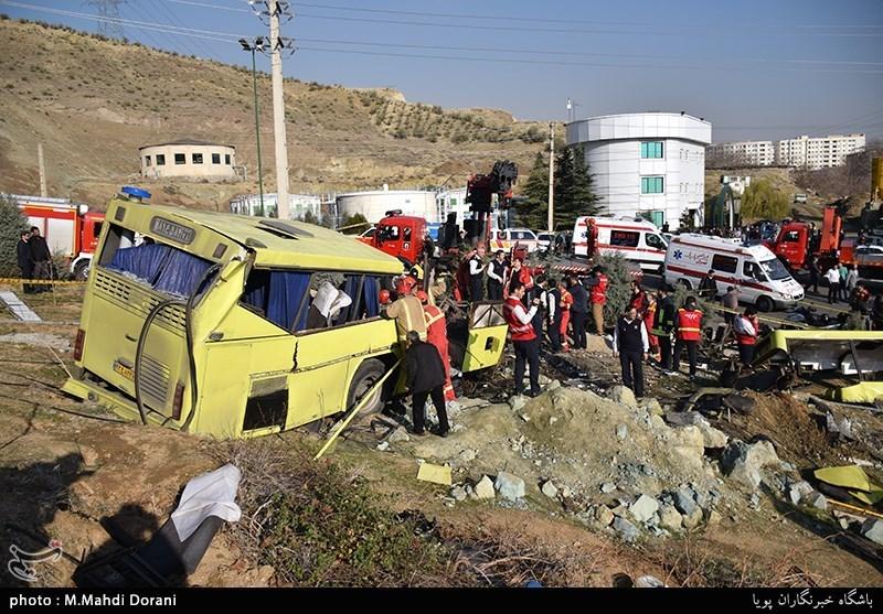 واژگونی اتوبوس در دانشگاه آزاد اسلامی واحد علوم و تحقیقات